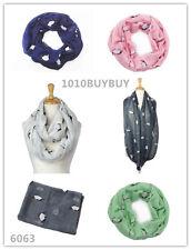 US Wholesaler 12PC -Assorted Colors- Penguim Soft Infinity Scarf #6063