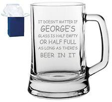 Personalised Engraved Beer Glass Tankard Best Man wedding, birthday gift