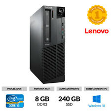 ORDENADOR SOBREMESA LENOVO M91P SFF CORE I5-2400S 8GB 240GB SSD DVD WINDOWS 10