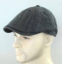 New Auth Ben Sherman Driver Herringbone Wool Duckbill Hat Newsboy Beret Cap Char