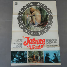 Affiche cinéma 1972 originale film érotique sexy,Justine de Sade