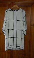 Gruppo Moda - Vestito donna, bianco nero, 100 poliestere, tg M, usato