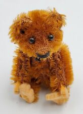 Schuco Picculo Miniature Jointed Brown Mohair Teddy Bear w/ Felt Pads 2-1/2""