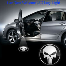 2x Car Door Punisher Skull Head Logo LED Projector Welcome Ghost Shadow Light