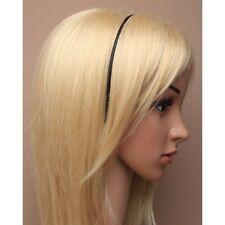 NEW Thin ribbon wrapped black aliceband headband back to school hair accessory