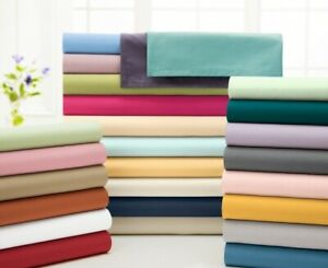 New Bedding Collection 1000TC Egyptian Cotton AU King Size Solid Colors