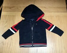 Tommy Hilfiger Boy's Zipped Jumper With Large Hoodie, 2-3 Years - Good Condition