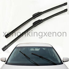 "All Season Combo 19""+21"" U/J Hook OEM Bracketless Windshield #f34 Wiper Blades"