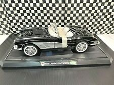 Gearbox 1958 Corvette Convertible Hardtop - Black - 1:12 Diecast w/Stand - Boxed