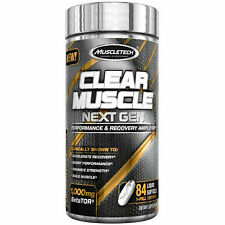 MuscleTech Clear Muscle NEXT GEN, With Beta Tor 84 Capsules, NEW Formula