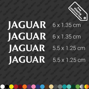 x4 Jaguar brake caliper restoration sticker decal kit high temp - White