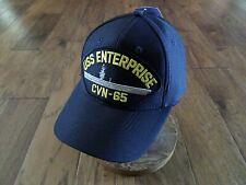 Uss Enterprise Cvn-65 Navy Ship Hat U.S Military Official Ball Cap U.S.A Made