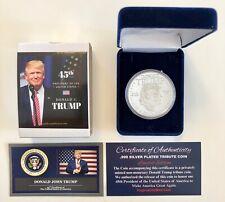 President Donald Trump...MAGA Commemorative Coin.. .999 Silver Overlay in a Case