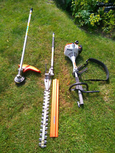 Sthil Combi KM-55 with long reach Hedge trimmer and Strimmer attchments