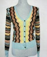 Missoni Target S Zig Zag Cardigan Sweater Chevron Colorful Long Sleeve