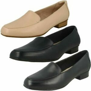 Ladies Clarks Low Heeled Loafers Juliet Lora
