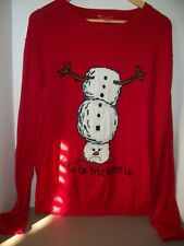 Target Ugly Christmas Sweater Fa..La..Fricken..La...Angry Snowman~Adult Sz XL