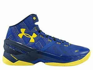 """Under Armour Men's Curry 2 """"Dub Nation"""" Blue/Yellow  1259007422"""