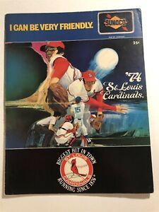 1974 ST LOUIS CARDINALS vs ASTROS Scorecard BUSCH Lou BROCK Joe TORRE Cedeno