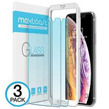 For iPhone Ten XS Max Screen Protector Blue Light Filtering Tempered Glass 3 Pcs