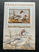 WTDstamps - #RW75B 2008 - US Federal Duck Stamp - Mint OG NH