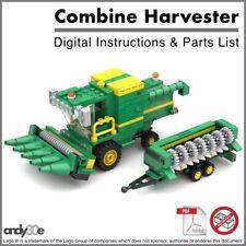 Lego MOC Instructions I Combine Harvester Set I Town City Farm Tractor JohnDeere