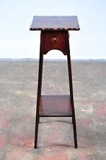 """antique American Designer 36"""" Fern Stand - carved Oak c.1920s"""