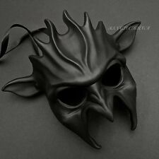 Scary Black Devil Costume Halloween Masquerade Party Mask