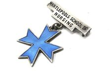 Great Rare Vintage Enamel Solid Silver Hartlepool School of Nursing Medal #26032