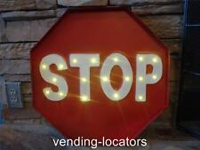PARKING STOP SIGN METAL ON OFF LED LIGHT CAR GARAGE PARK E-Z SIGN NEW