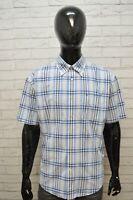 Camicia Uomo TOMMY HILFIGER Taglia 2XL Maglia Polo Cotone Shirt Hemd Quadri Blu