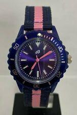 Sportliche Armbanduhr für Damen - blau & rosa - mit NATO-Textilband - hübsch!