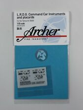 Archer 1/35 LRDG Command Car Instruments and Placards (for Tamiya 35092) AR35329