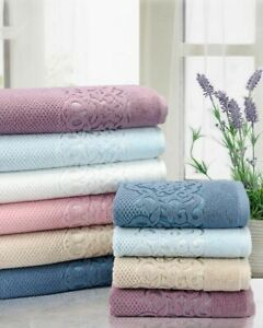 Luxury 100% Turkish cotton towels soft 570 GSM face / guest hand bath towel
