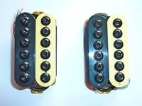 Invader Style Humbucker Pickup. Hex Polepieces and ceramic Magnet Zebra Colour