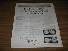 1930 Print Ad Spalding Kro-Flite New Golf Balls Golfer & Caddy