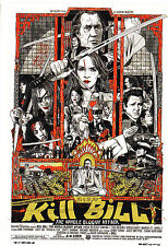 Tyler Stout Kill Bill The Whole Bloody Affair Mondo Postcard like Olly Moss Rare