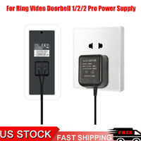 Power Supply Adapter Transformer W/ 5M Wire For Video Ring Doorbell 1/2/2 Pro