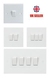 Light Switch White 10A 2-Way 1G 2G 3G 4G Knightsbridge