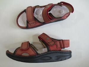 FINN Comfort Schuhe Klett Trekking Sandale 36 Leder rosarot Einlegesohle neu /10
