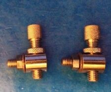 NEW OLD STOCK PAIR VINTAGE 'BRASS' BRAKE CABLE ADJUSTERS,RALEIGH,HUMBER BSA ERA