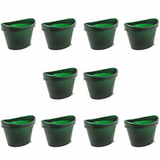 10 Pack Of Green Comfortable Plastic One Size Fits All Moulded Eye Wash Baths