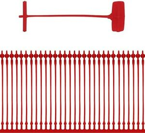 Red Plastic Kimble tag barbs to attach swing tag to Ty beanies,Clothing & labels