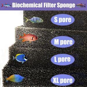 Bio Sponge Filter Media Pad Aquarium Fish Tank Biochemical Cotton Filter Black