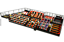 12,500 sqft Commercial Trampoline Park Dodgeball Climb Gym Inflatable We Finance