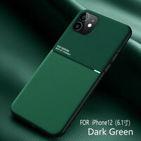 For iPhone 12 mini 11 Pro Max XS XR X 8 7 Plus Thin Slim Leather Hard Case Cover