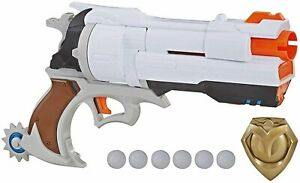 NERF Overwatch McCree Rival Blaster with Die Cast Badge & 6 Overwatch Rival...