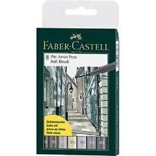 Faber - Castell 8 Pitt Artist Pens Soft Brush Nib India Ink