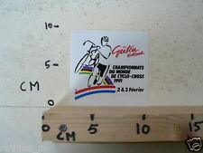 STICKER,DECAL WK CYCLO CROSS VELDRIJDEN 1991 GIETEN DU MONDE CYCLING B