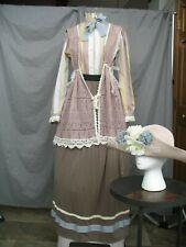 Victorian Dress Edwardian Costume Civil War Reenactment Style w Hat